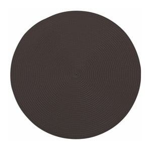 Czarna okrągła mata stołowa Tiseco Home Studio Round, ø 38 cm