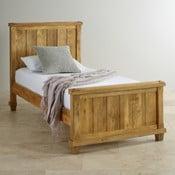 Łóżko jednoosobowe z drewna mangowca Massive Home Patna, 90x200 cm