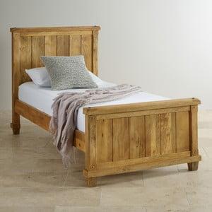 Łóżko jednoosobowe z mahoniu Massive Home Patna, 90x200 cm