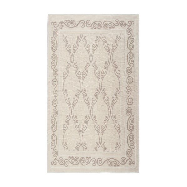 Kremowy dywan bawełniany Floorist Gina, 80x300cm