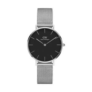 Zegarek damski w srebrnej barwie z czarnym cyferblatem Daniel Wellington Petite, ⌀28mm