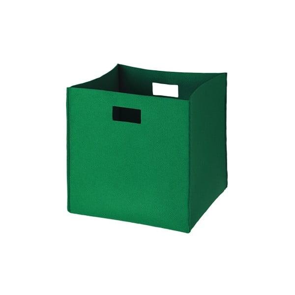Filcowe pudełko 36x35 cm, zielone