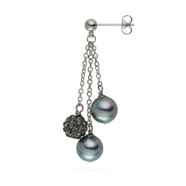 Kolczyki Nova Pearls Copenhagen Annie Grey