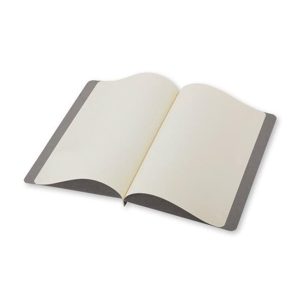 Jasnoszary zestaw do pisania Moleskine, karta + koperta