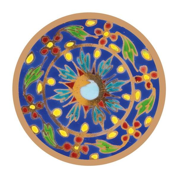 Naklejki Mandala, blue/yellow, 4 szt