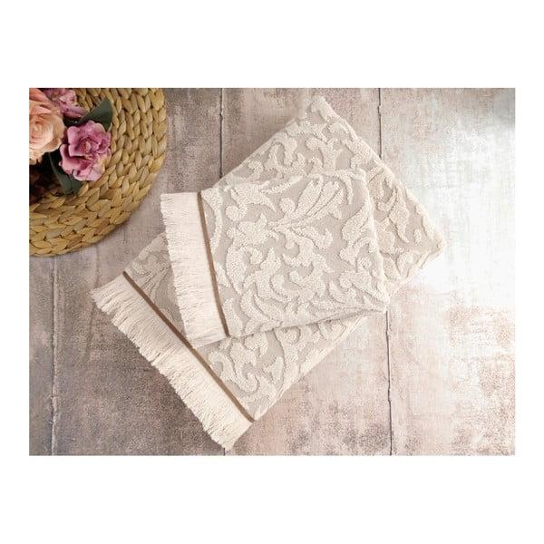 Zestaw 2 beżowych ręczników Irya Home Royal, 50x90 cm