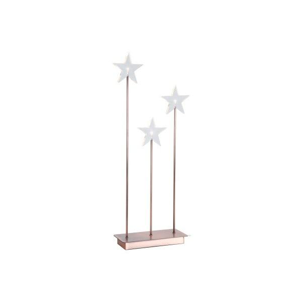Świecące gwiazdy ze stojakiem Best Season Trio Star Copper