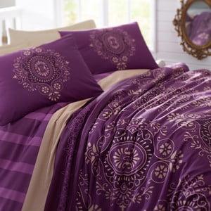 Pościel z prześcieradłem Ottoman Purple, 200x220cm