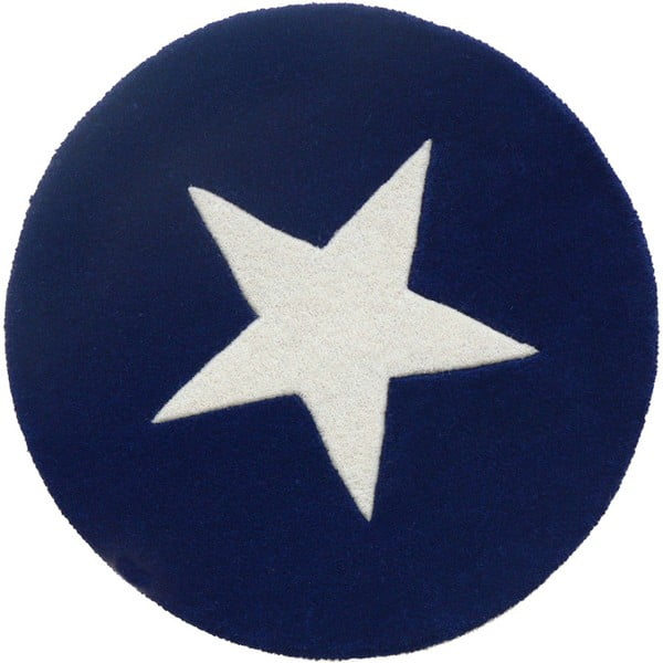 Wełniany dywan Star Blue, 130 cm