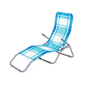 Leżak plażowy Summer, niebieska kratka