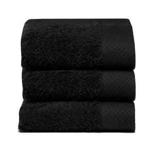 Komplet   3 ręczników Pure Black, 30x50 cm
