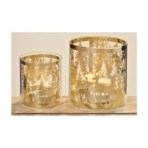 Zestaw 2 świeczników Kendell Gold