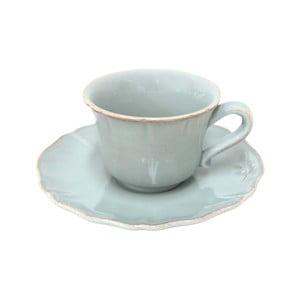 Ceramiczna filiżanka na herbatę z podstawką Alentejo, turkusowa