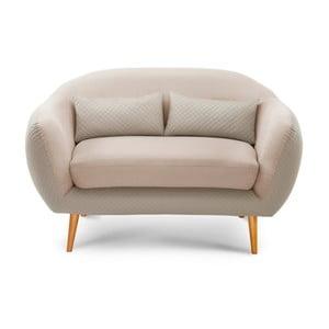 Kremowa sofa 2-osobowa Scandi by Stella Cadente Maison Meteore