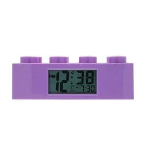 Fioletowy zegar z budzikiem LEGO® Brick