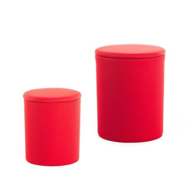 Zestaw 2 stołków The Drum Barbados Cherry