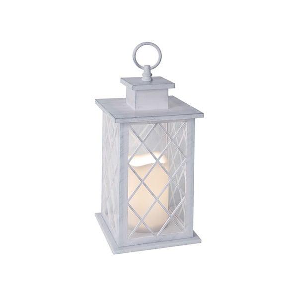 Biały lampion LED Best Season Jaipur, 31 cm