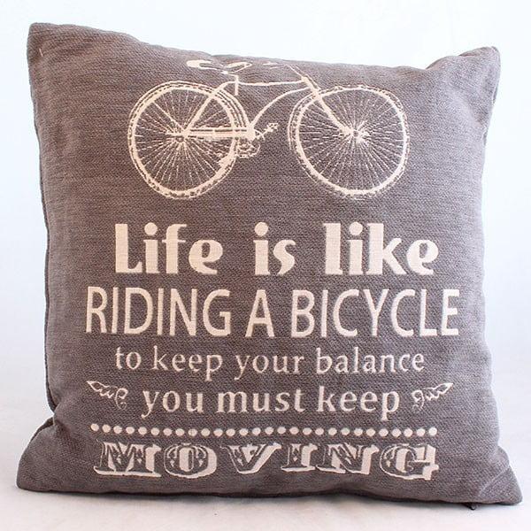 Dekoracyjna poszewka na poduszkę Bicycle, ciemny, 40x40 cm