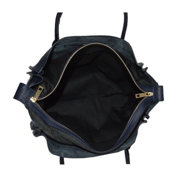 Niebieska torebka skórzana Chicca Borse Anag