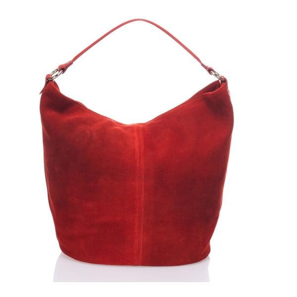 Skórzana torebka Krole Kim, czerwona