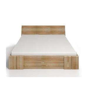 Łóżko 2-osobowe z drewna bukowego z szufladą SKANDICA Vestre Maxi, 140x200 cm