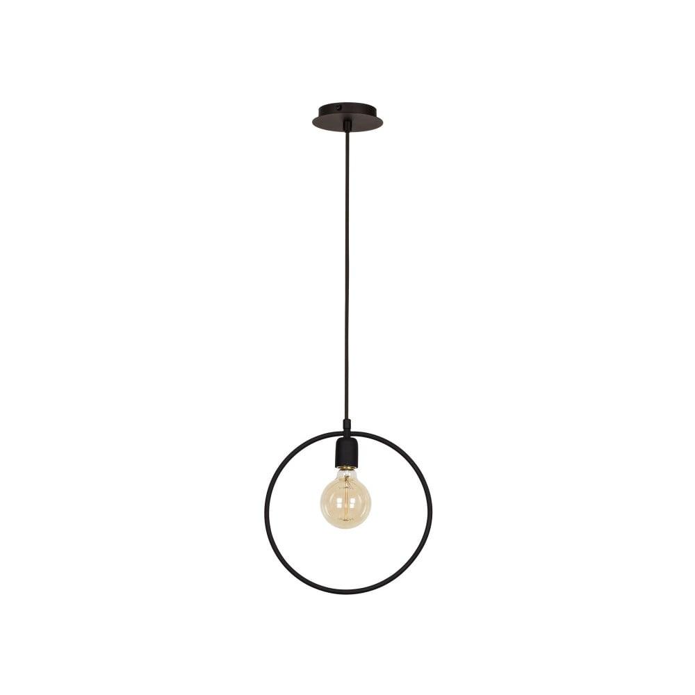 Czarna lampa wisząca Round