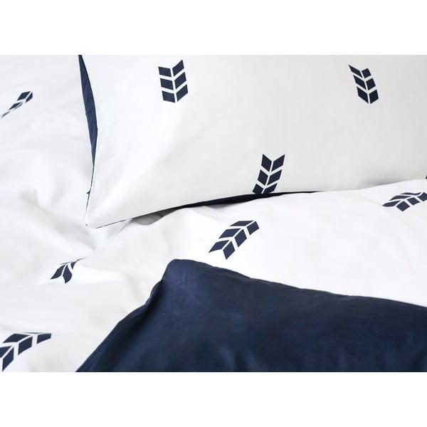 Biała pościel Hawke&Thorn Finch Straw, 240 x 220 cm + poduszka 50 x 60 cm