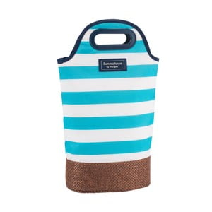 Jasnoniebieska prążkowana torba na 2 butelki Navigate