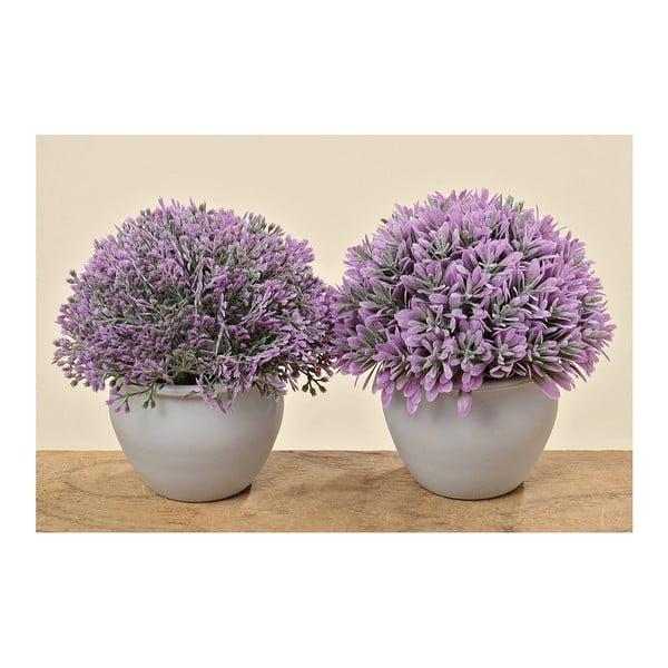 2 sztuczne lawendy w doniczce Lavender