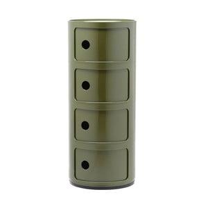 Zielona szafka z 4 szufladami Kartell Componibili