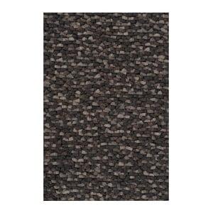 Wełniany dywan Crush Charcoal, 140x200 cm