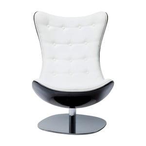Biały fotel obrotowy Kare Design Atrio