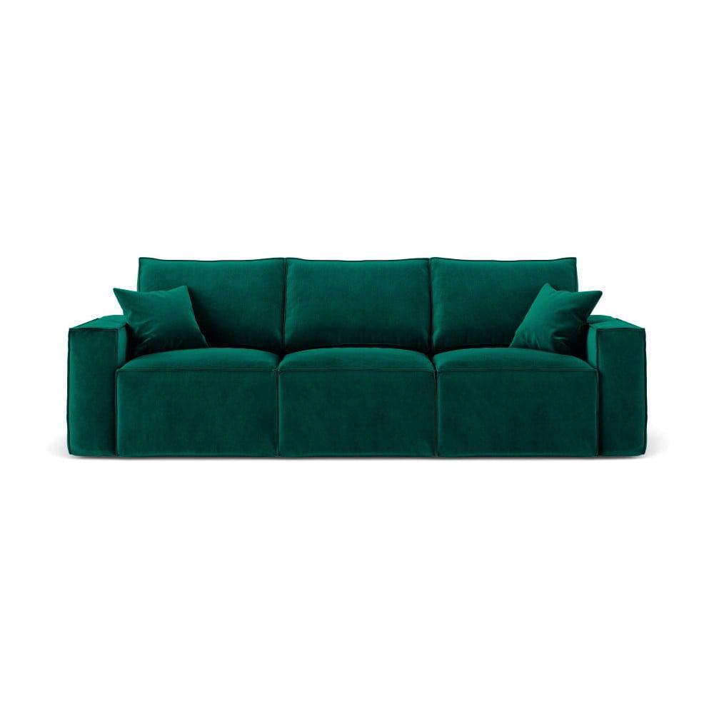 Ciemnozielona sofa 3-osobowa Cosmopolitan Design Florida