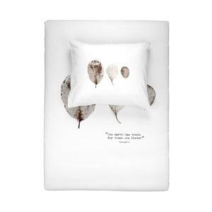 Biała bawełniana pościel jednoosobowa Walra Elin,135x200cm