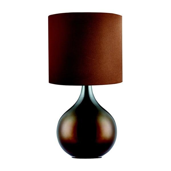 Lampa stołowa Searchlight Drum, brązowa