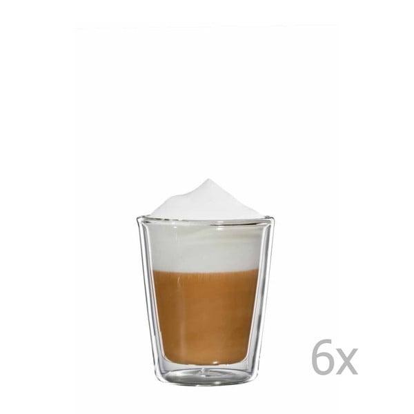 Zestaw 6   szklanych kubków na cappuccino bloomix Milano