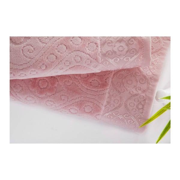 Zestaw 2 ręczników Sal Pink, 50x90 cm a 70x140 cm