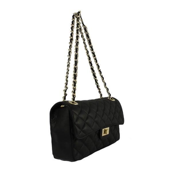 Czarna skórzana torebka Chiara