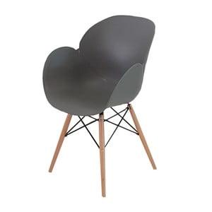 Szare krzesło Castagnetti Tulip