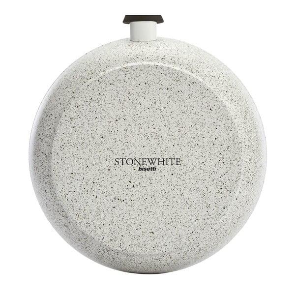 Patelnia z przykrywką i białymi uchwytami Bisetti Stonewhite, 24 cm