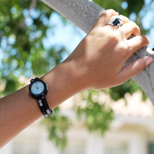 Zegarek z koralikami Classic, Black Mojito