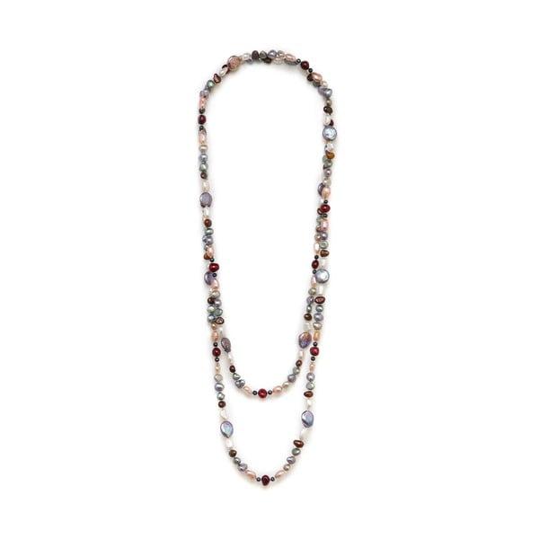 Kolorowy perłowy naszyjnik GemSeller Baroque