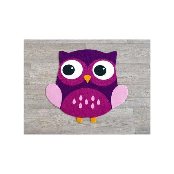 Fioletowy dywan dziecięcy Sowa, 100x100cm