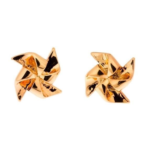 Kolczyki Gold Pinwheel