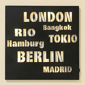 Obraz LED Cities, 40x40 cm