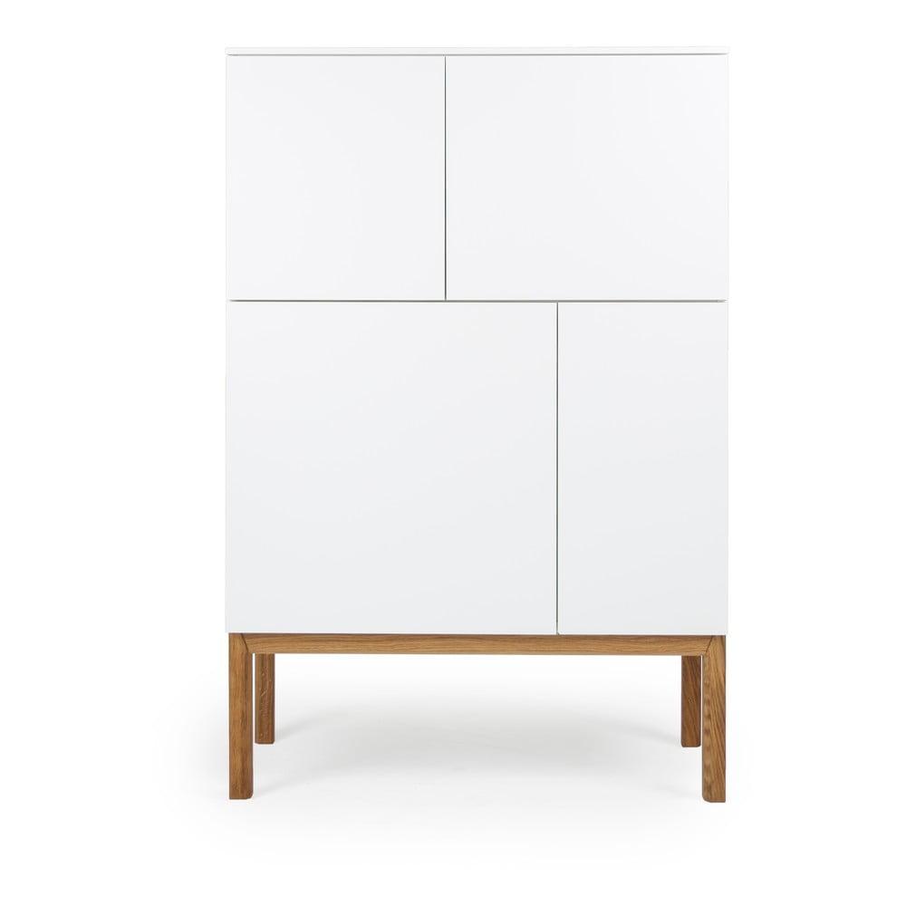 Biała 4-drzwiowa szafka Tenzo Patch, 92x138 cm