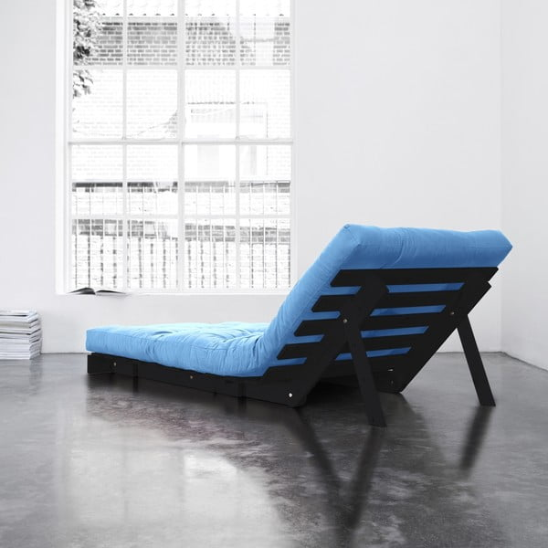 Fotel rozkładany Karup Roots Wenge/Horizon Blue