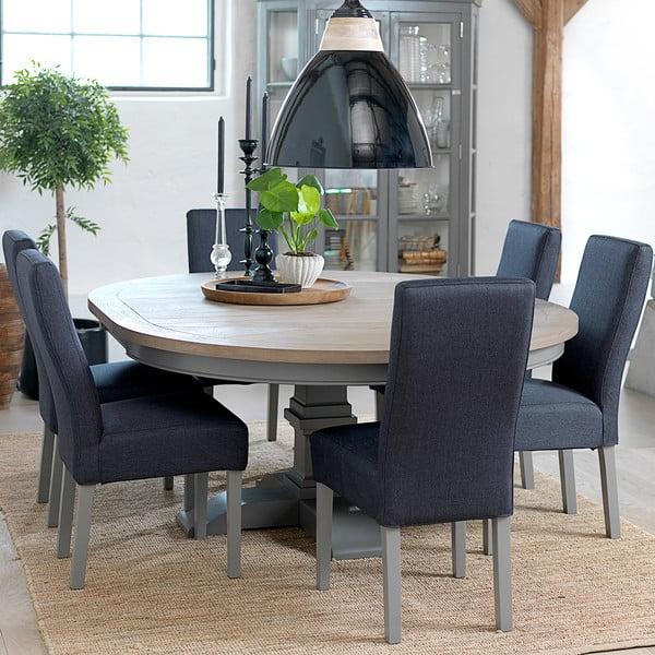 Szary okrągły rozkładany stół Canett Royal Dining