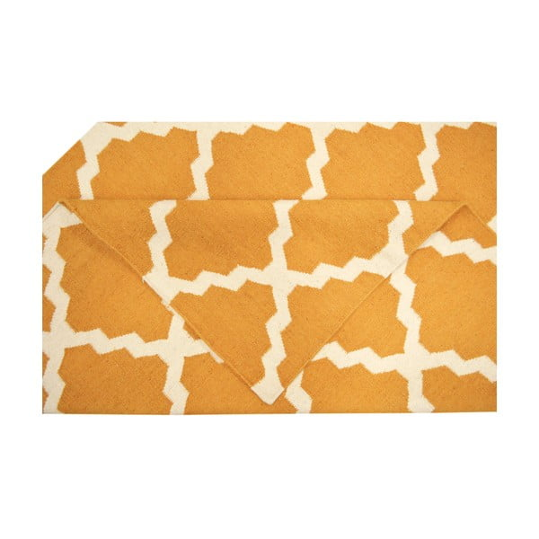 Ręcznie tkany dywan Kilim Design Four Orange, 160x230 cm