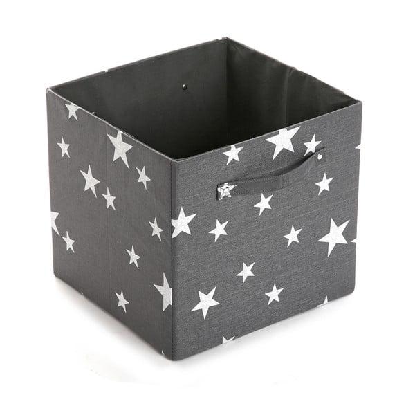 Pudełko White&Grey Stars, 32x32 cm